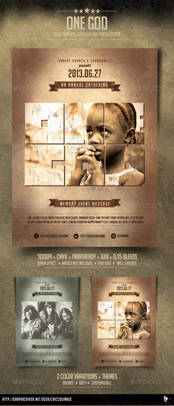 GraphicRiver One God Flyer Template 4637141