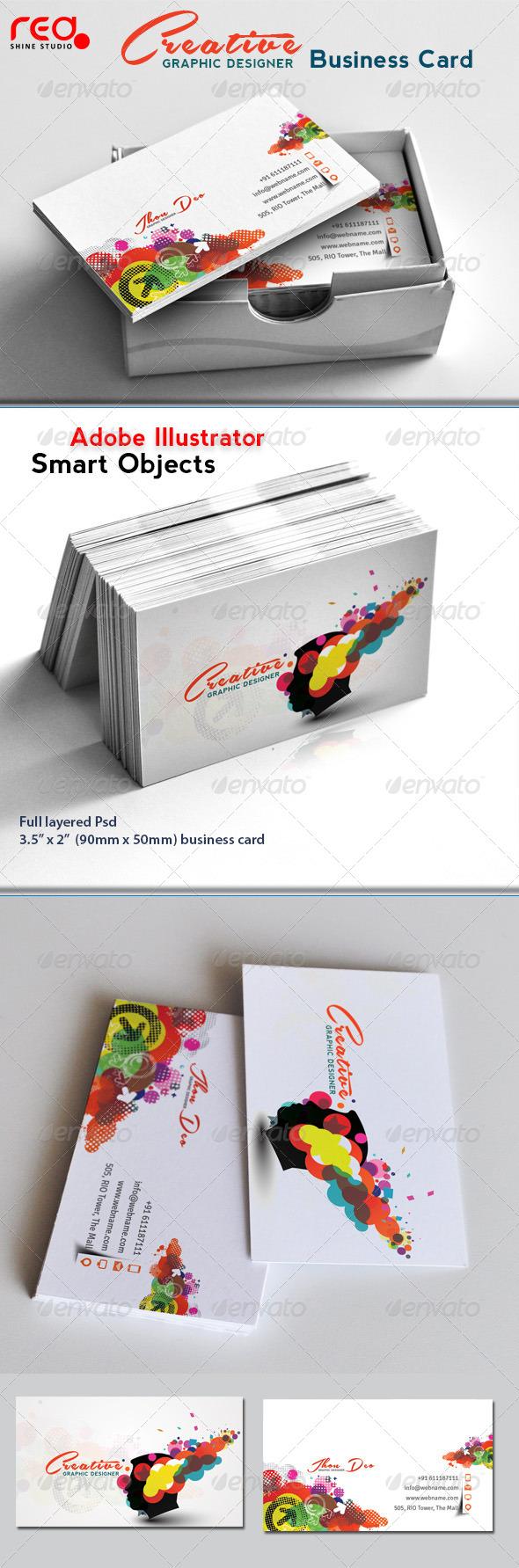 GraphicRiver Creative Elegant Business Card 4637166