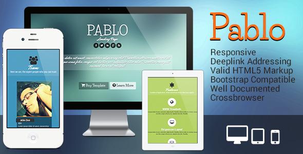 ThemeForest Pablo Responsive Landing Page 4637228
