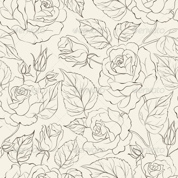 GraphicRiver Little Rose Seamless Background 4637244