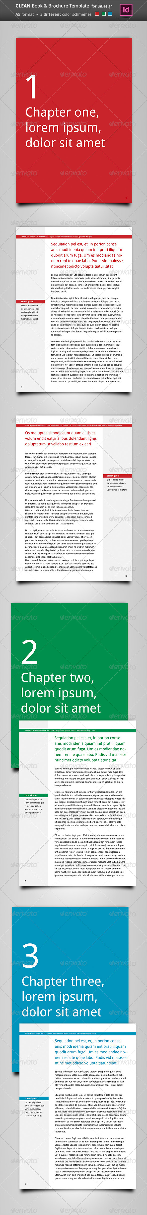 GraphicRiver Clean Book & Brochure Template 4637396