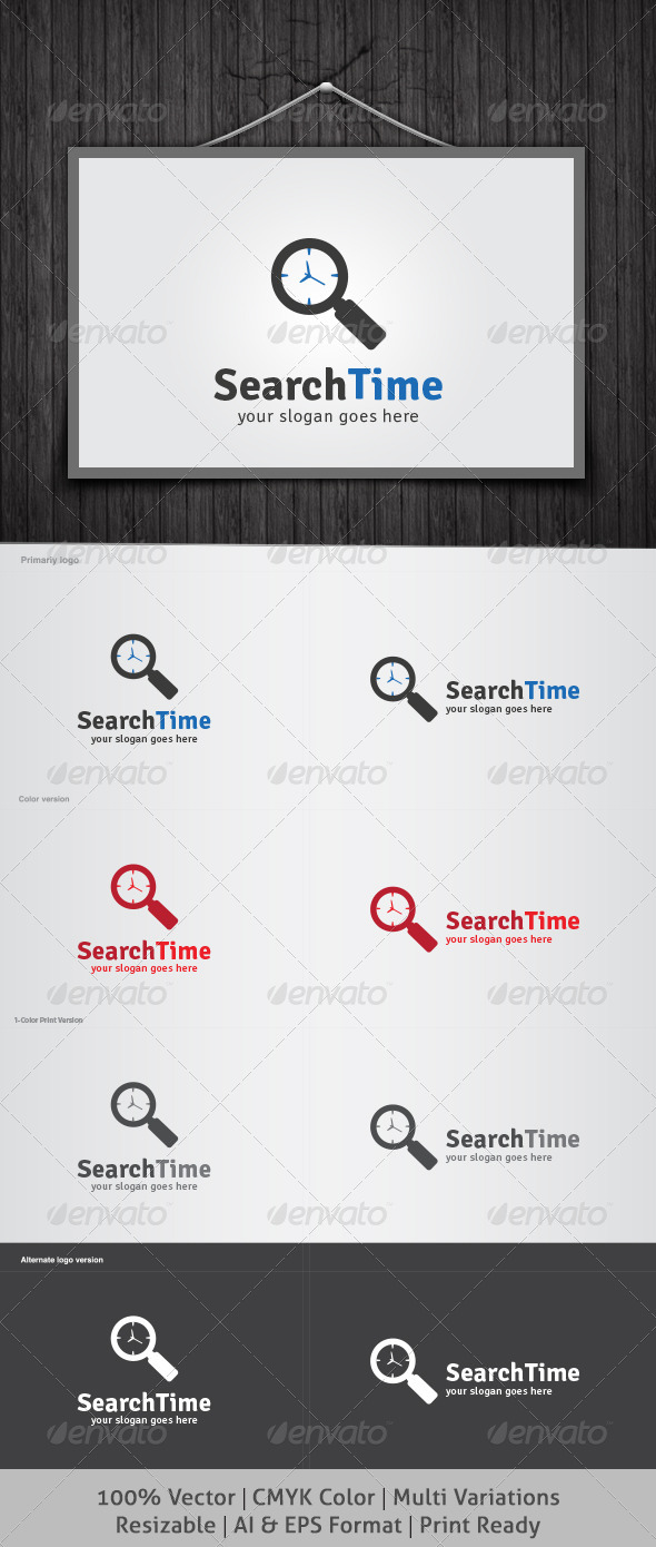 Search Time Logo - Objects Logo Templates