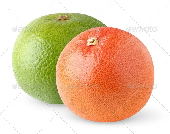 Two grapefruits - Stock Photo - Images