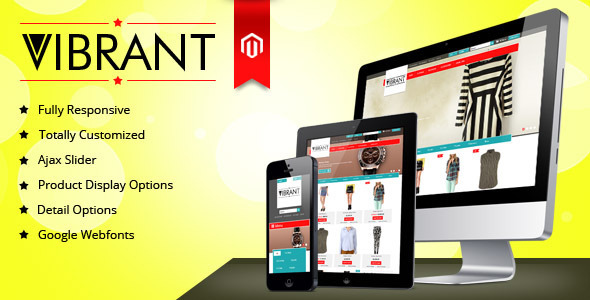 ThemeForest Vibrant Responsive Unique Magento Theme 4603890