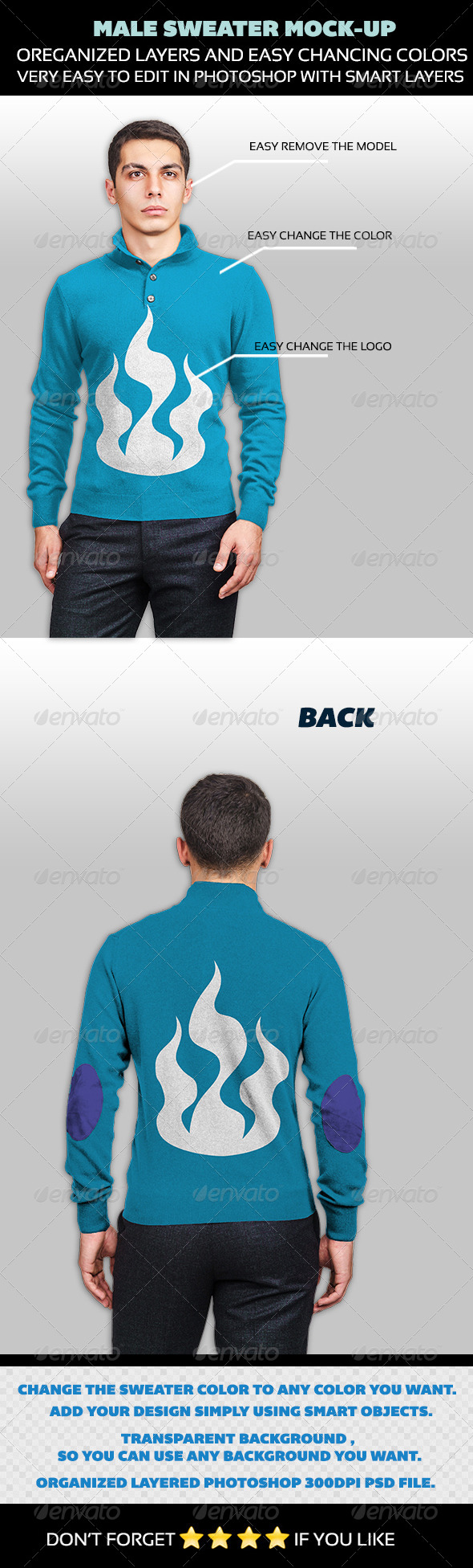 GraphicRiver Male Sweater Mock-up 4530652