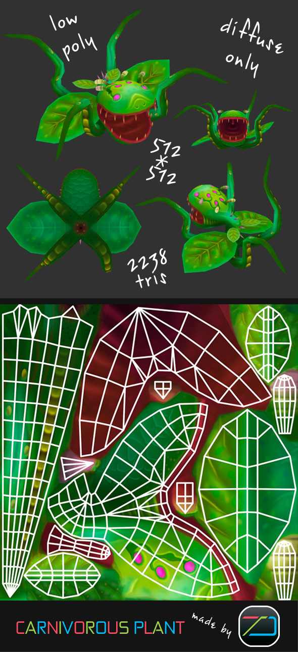 3DOcean Carnivorous Plant 4638644