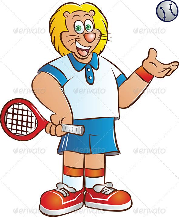 GraphicRiver Tennis Player 4639411