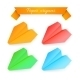 Paper Airplane Origami. Vector Illustration - GraphicRiver Item for Sale