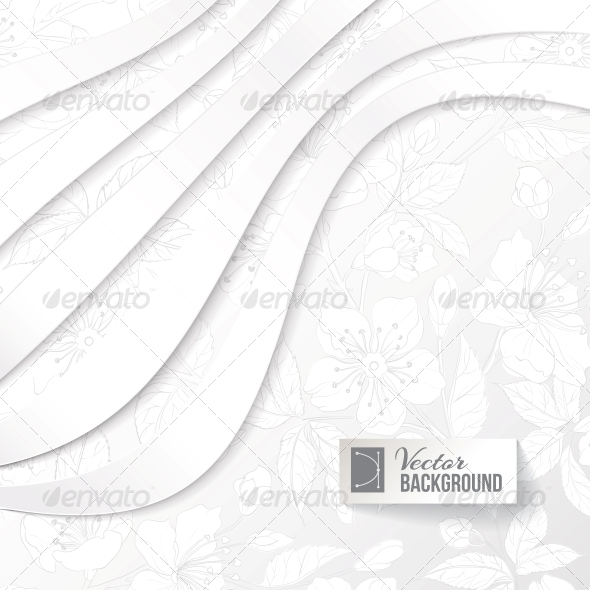GraphicRiver Abstract Background with Floral Elements 4639691