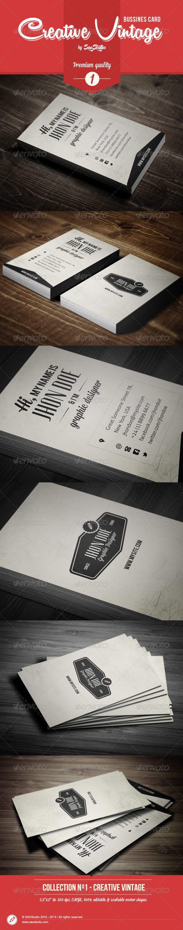 GraphicRiver Premium Creative Vintage Bussines Card 4639838