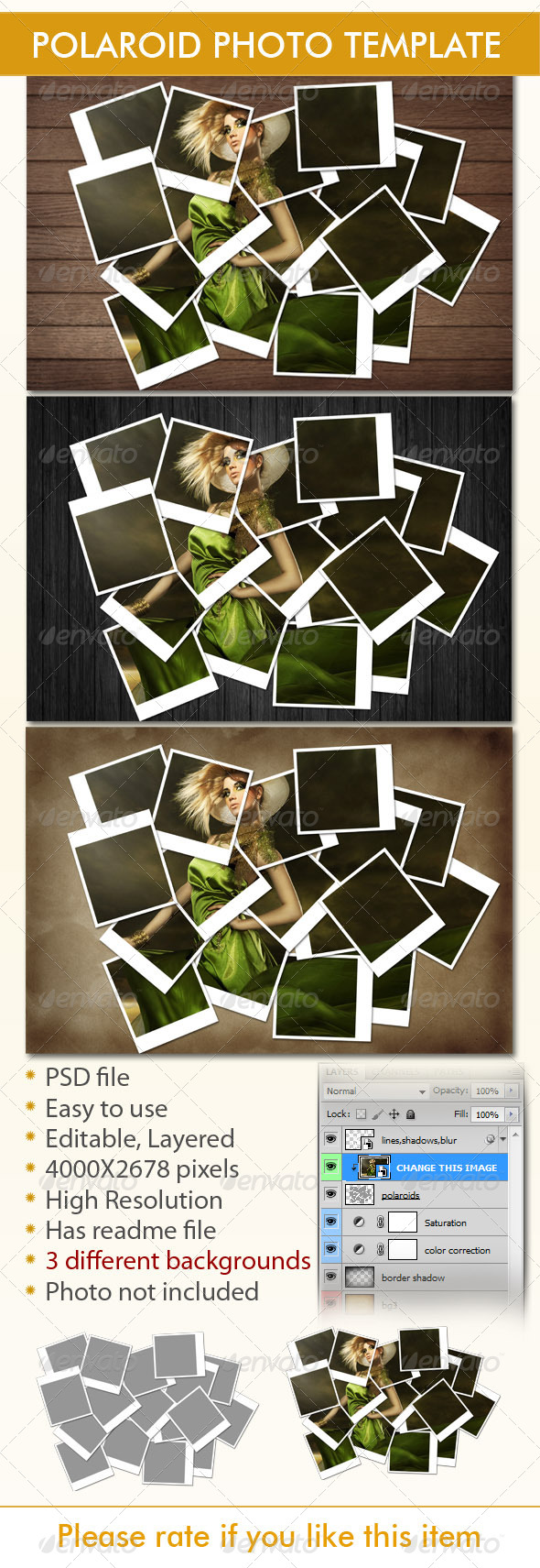 GraphicRiver Instant Photo Frames Photo Template 4639876