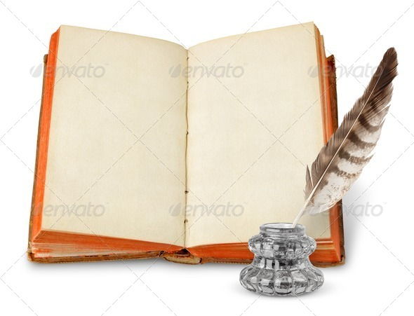 Ancient book - Stock Photo - Images