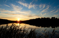 Beautiful sunset over the forest lake - PhotoDune Item for Sale