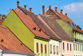 Red tiled roof of Budapest Old Town buildings - PhotoDune Item for Sale