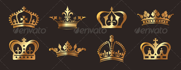 GraphicRiver Golden Crowns 4641237
