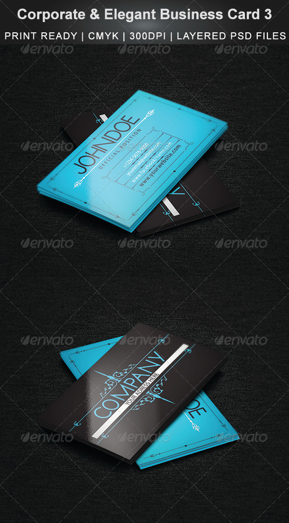 Corporate & Elegant Business Card 3 - Corporate Business Cards