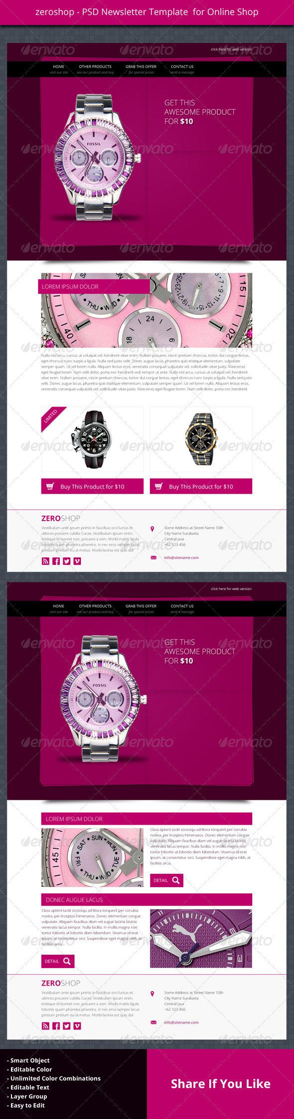 GraphicRiver zeroshop PSD Newsletter Template For Online Shop 4601604