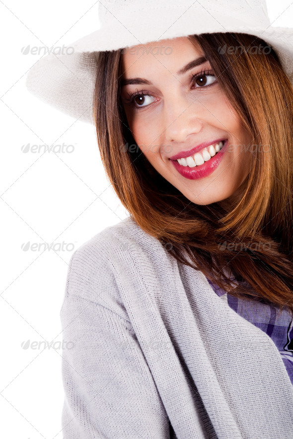 stylish young lady - Stock Photo - Images
