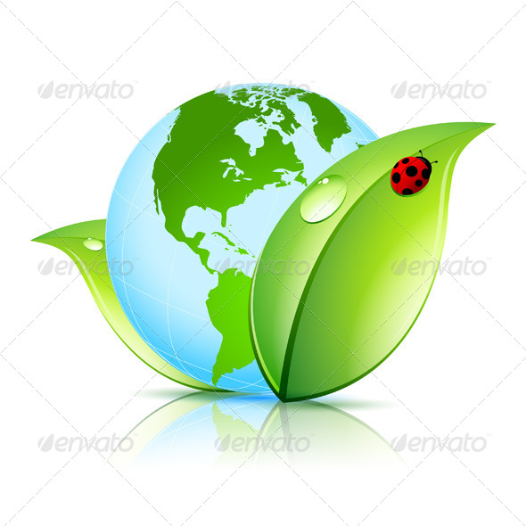 GraphicRiver Green Earth Icon 4641518