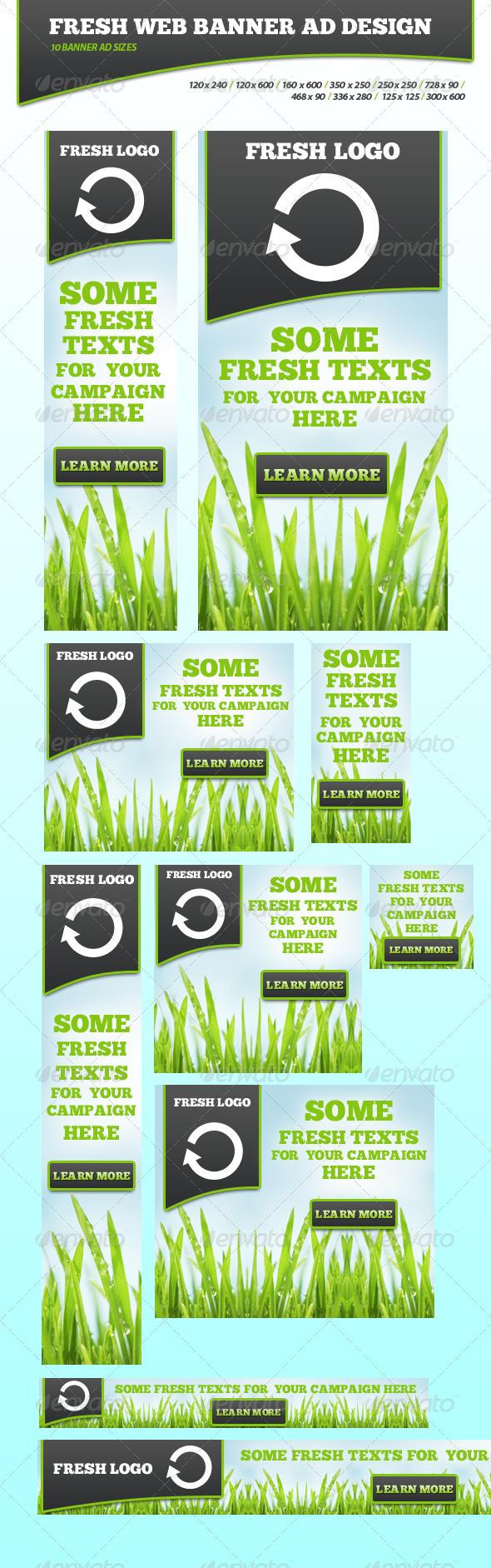 GraphicRiver Fresh Banner ad Campaign 4617914