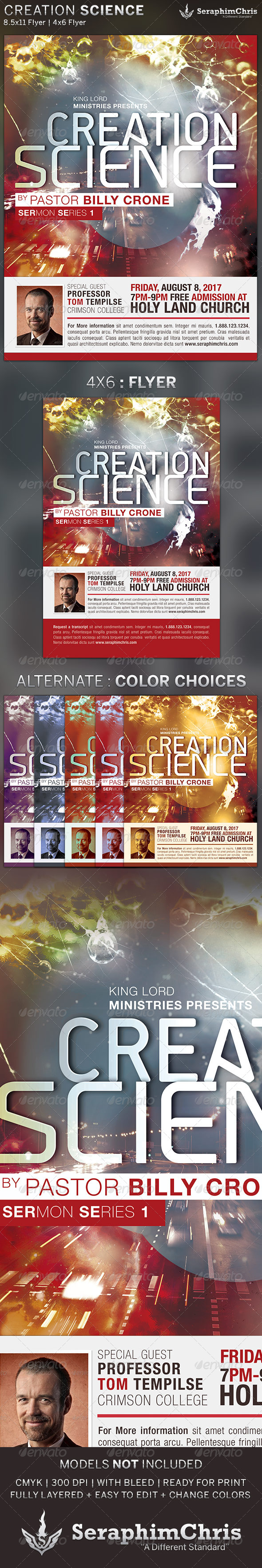 Creation Science: Church Flyer Template - Church Flyers