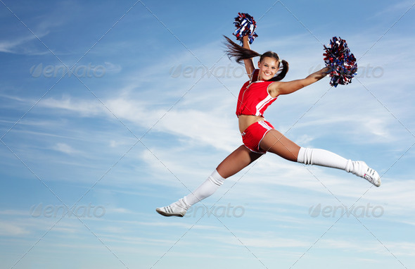 Young female cheerleader - Stock Photo - Images