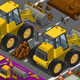 Isometric Yellow Bulldozer in Front View - GraphicRiver Item for Sale
