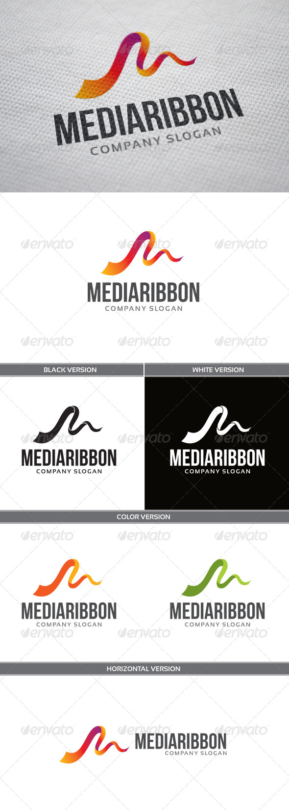 GraphicRiver MediaRibbon Logo 4643398