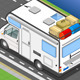 Isometric Camper on the Way in Rear View - GraphicRiver Item for Sale