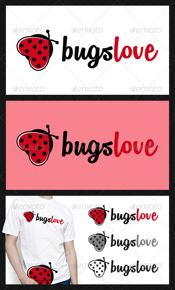 GraphicRiver Bugs Love Logo Template 4643698