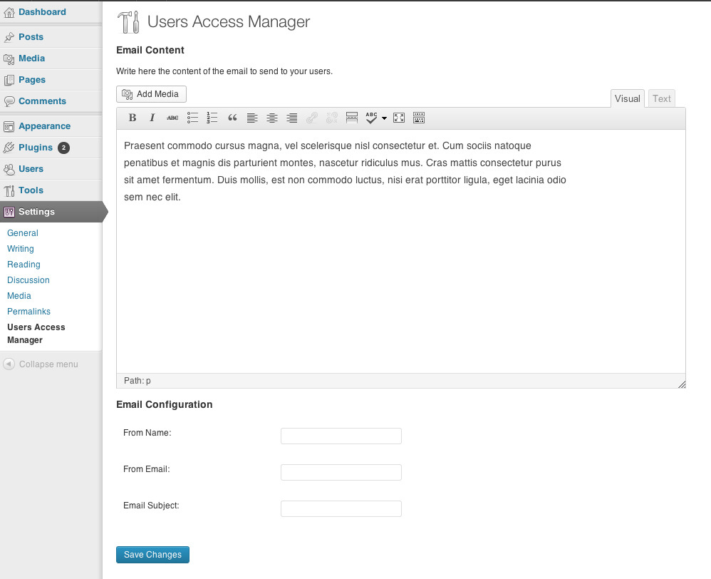 Users Access Manager