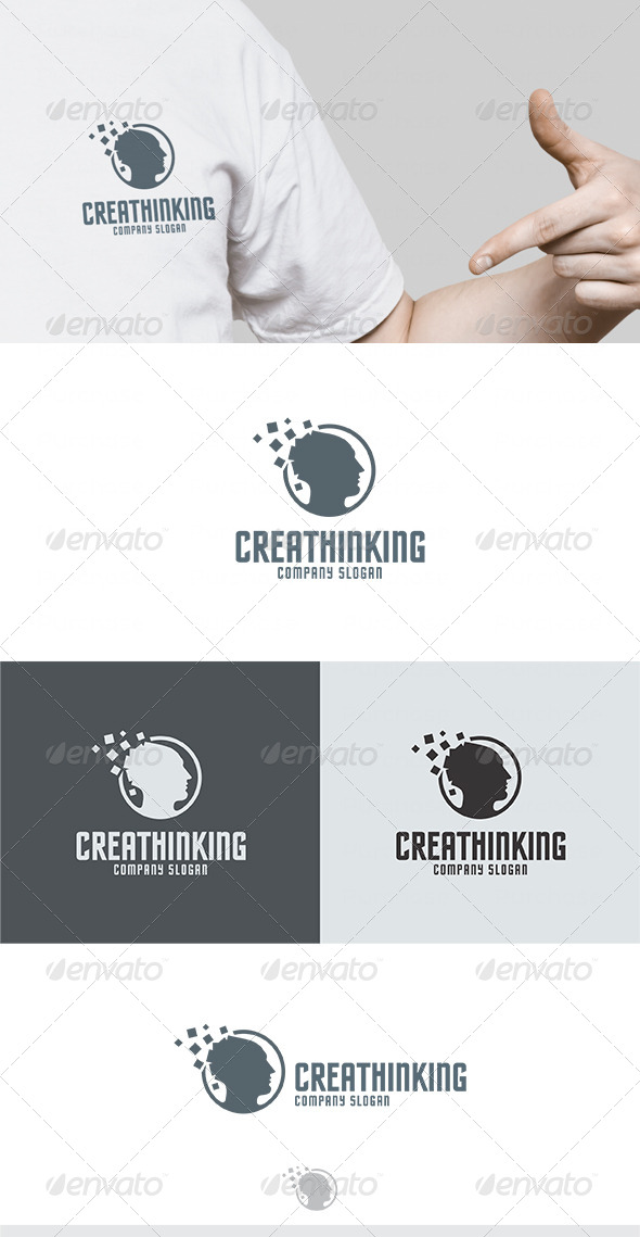GraphicRiver Crea Thinking Logo 4643704