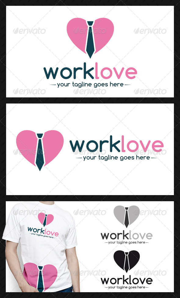 GraphicRiver Work Love Logo Template 4643812