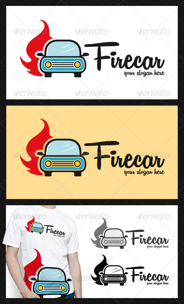 GraphicRiver Car Hot Fire LogoTemplate 4644122
