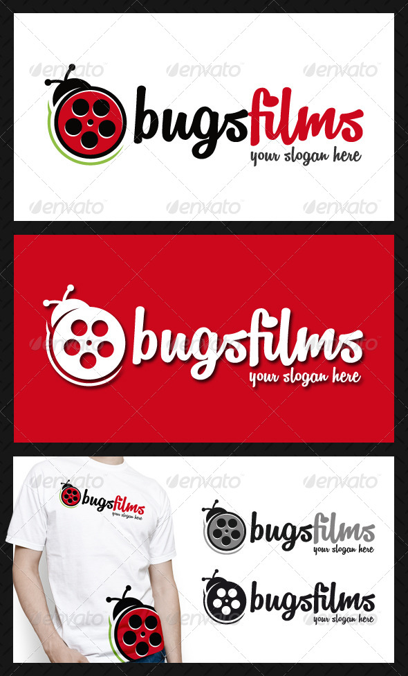 GraphicRiver Bug Films Logo Template 4644733