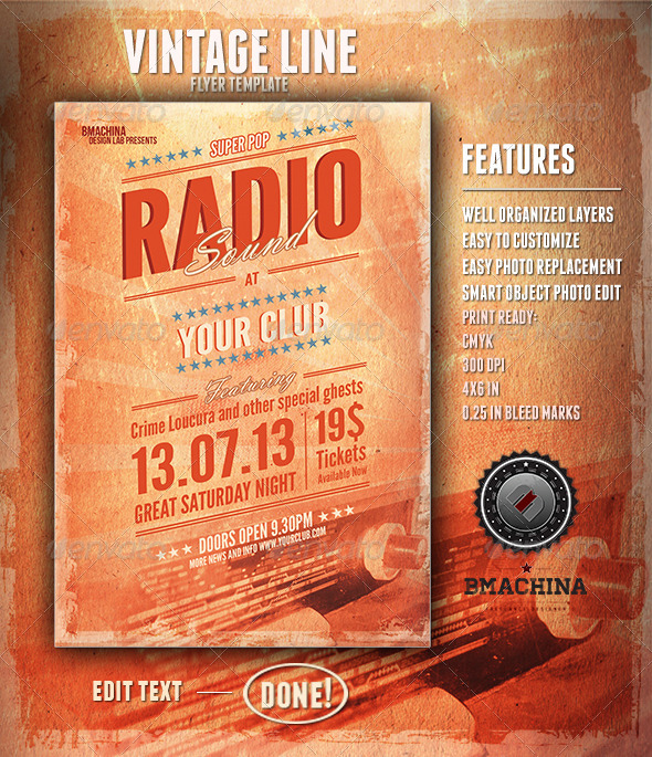 GraphicRiver Radio Sound Flyer Template 4645178