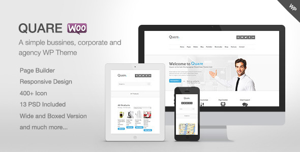 Quare - Responsive Multi-Purpose Theme - Business Corporate