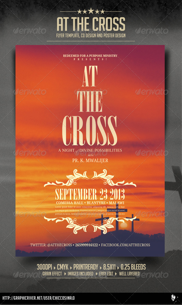 GraphicRiver At The Cross Concert Flyer 4646918