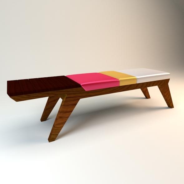 3DOcean Modern Bench 4647769