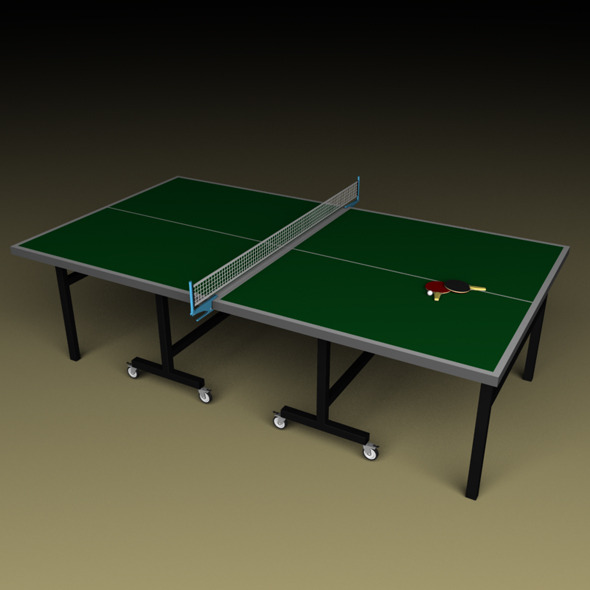 3DOcean Ping Pong Table with Paddles and Ball 4637043
