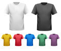 Black and white and color men t-shirts. Design template. - PhotoDune Item for Sale