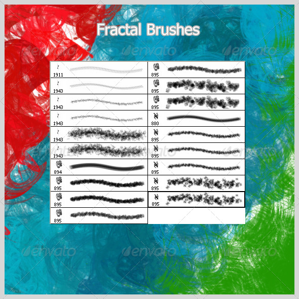 GraphicRiver Fractal Brushes 4651001