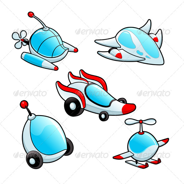 GraphicRiver Funny Spaceships 4651704