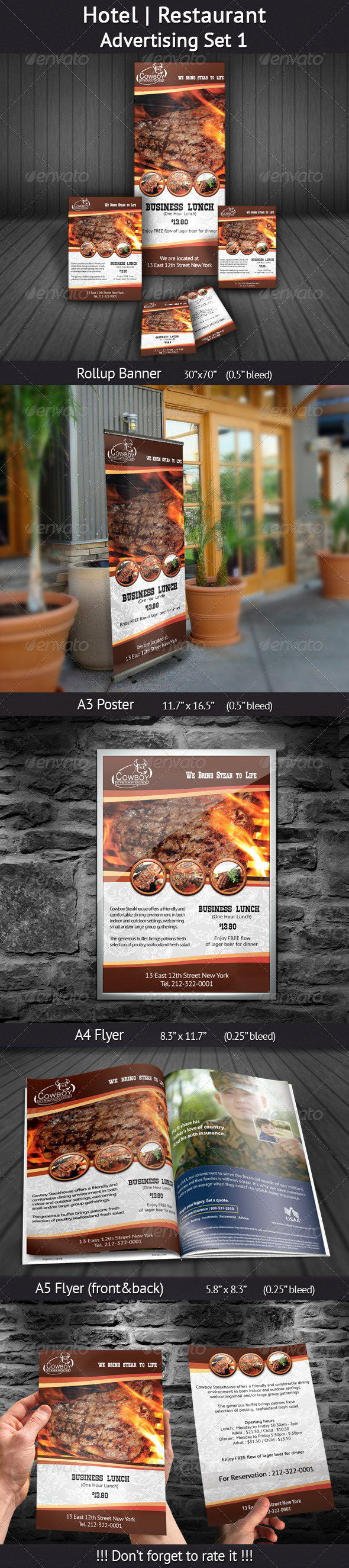 GraphicRiver Hotel Restaurant Advertising Set 1 4567042