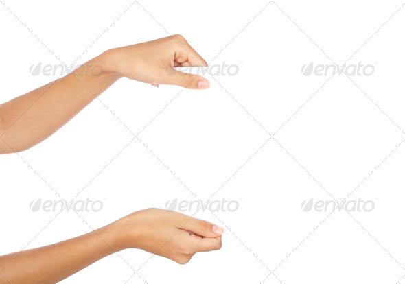 PhotoDune Hands holding paper 486376