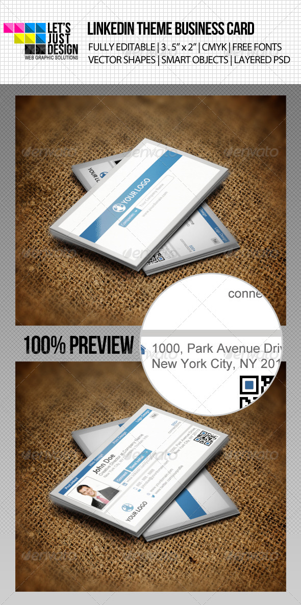 GraphicRiver LinkedIn Social Network Business Card 4588387