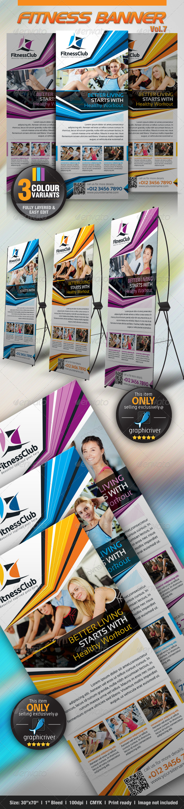 GraphicRiver Fitness Banner Vol.7 4589711