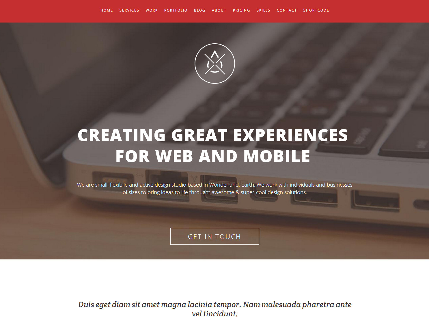 Wordpress - Single Page Responsive