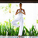 Woman Stretching During A Yoga Workout - VideoHive Item for Sale