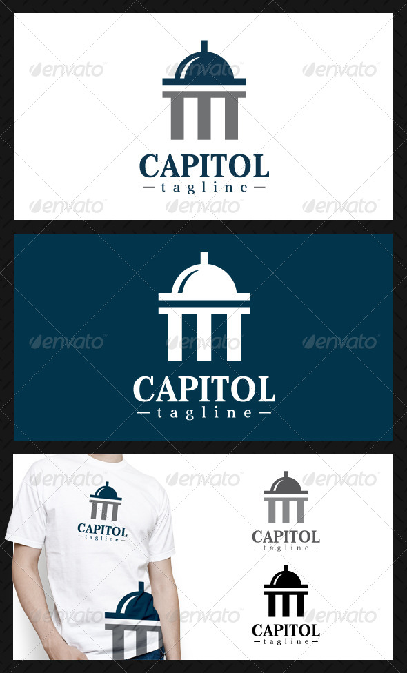 GraphicRiver Capitol Finance Logo Template 4653659